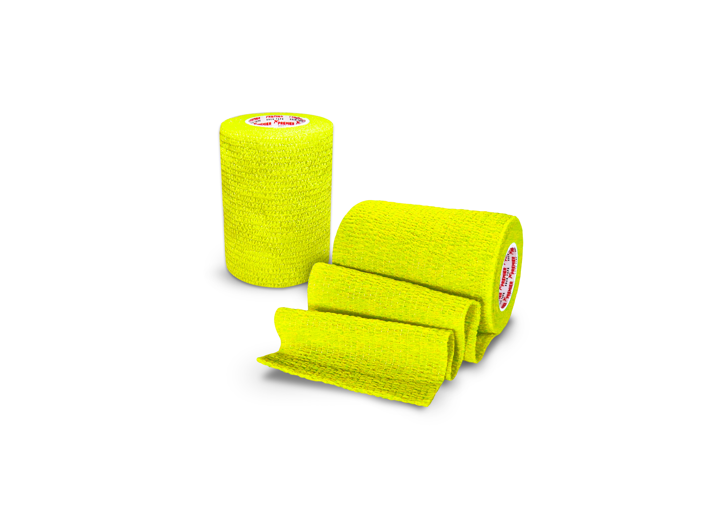 Premier Sock Tape 7.5cm Pro Wrap Neon Yellow